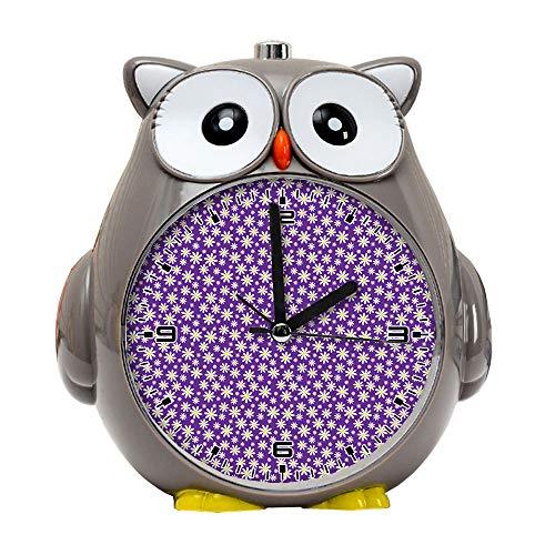 girlsight1 Owl Alarm Clock for Kids, Silent Non-Ticking Cartoon Quartz Loud Alarm Clock, Cute, Handheld Sized, Backlight, Personality Pattern flower182.Floral Daisy Flowers Wallpaper ()