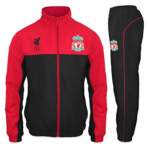 Liverpool FC Official Soccer Gift Mens Jacket & Pants Tracksuit Set Small Black