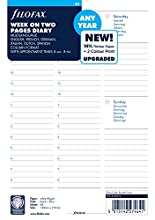 Filofax - Agenda semanal (A5, vista semanal, sin fecha)
