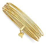 14k Gold Slip On 7 Bangles Bangle-bracelets