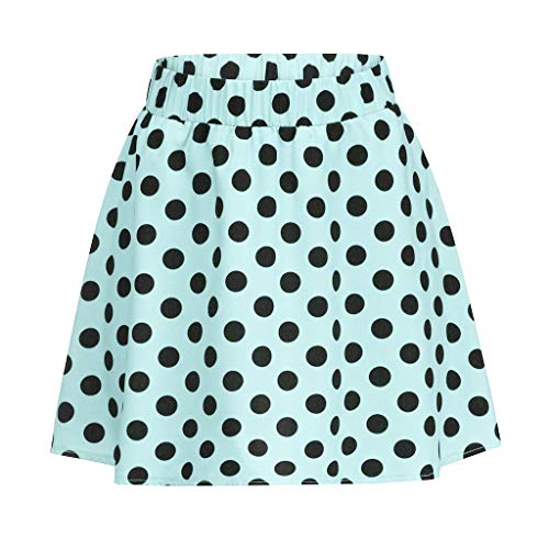 Summer Party Cocktail Bxzhiri Women Dot Printed Skirt High Waist Midi Skirt Green ()
