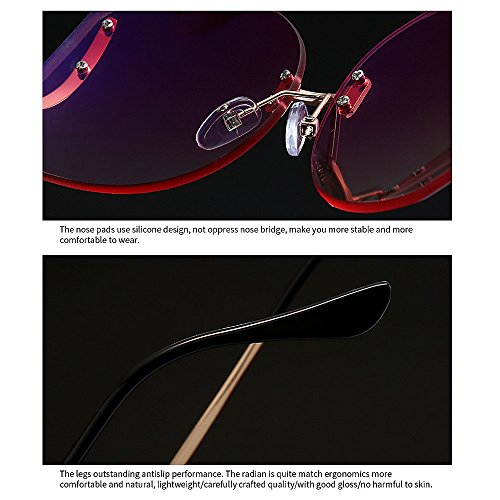 Que Pieza Gafas para Protección Mujeres Irregular Sol Color Especial Peggy Libre Gu Aire Conducción de Gris UV una Estilo de Sola de al Marrón viaja Pierna q1xzCwx0Z