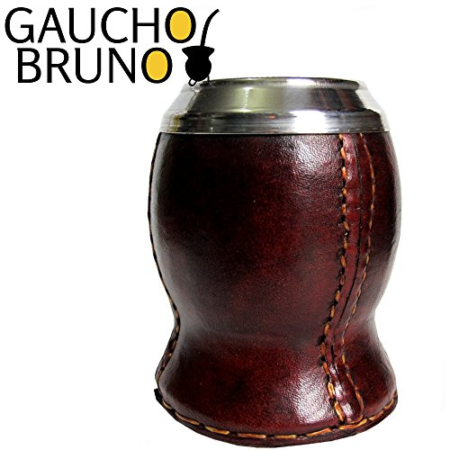 Natural Gourd wrapped in Leather to Drink Yerba Mate