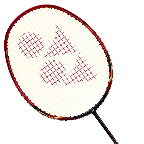 Yonex Badminton Racket Nanoray Series 2018 with Full Cover Professional Graphite Carbon Shaft Light Weight Competition Racquet High Tension Fast Speed Performance (NR10F - Black/Red, Pack of ()