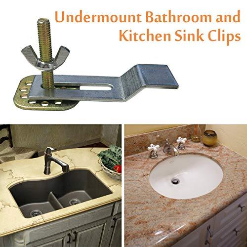 Sink Brackets Artisan Sink Clips 10 Pack Epoxy Sink Clips Undermount Sink Clips Kitchen Sink Clips Bathroom Sink Clips Tools Home Improvement Kitchen Bath Fixtures Fcteutonia05 De