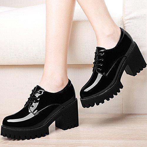 Zapatos mujer mujer alto noche PU de El Amarre Black de talón zapatos HUAIHAIZ Tacones zapatos Fn787U