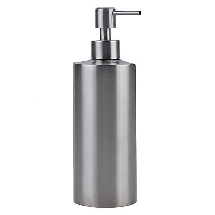 Kapmore Soap Dispenser, 304 Stainless Steel Liquid Soap Dispenser  Cylindrical Soap Dispenser for Kitchen Bathroom