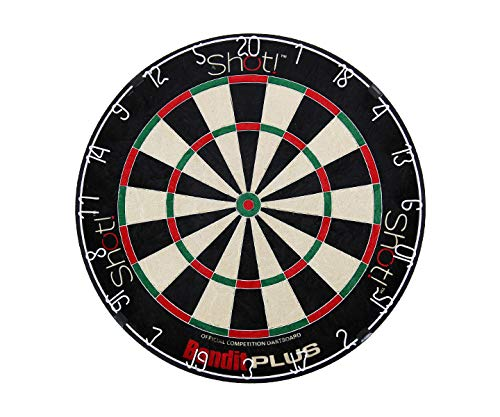 - Bandit Plus Staple-Free Bristle Dartboard with Extra Thin Spider Wire, Interlocking Steel Bands and Reduced Bounce-outs