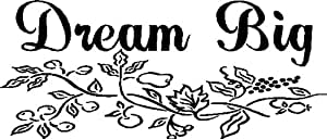 DREAM BIG...WALL SAYINGS WORDS QUOTES ART LETTERING DECALS, BLACK
