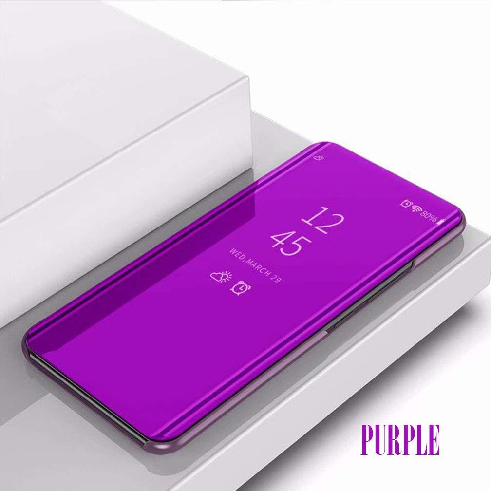 Schwarz ColiColi H/ülle f/ür iPhone XR H/ülle Clear View Standing Cover Smart Spiegel Semi-Transparente Handyh/ülle Flip Case 360 Grad Schutz Tasche Leder Mirror Schutzh/ülle