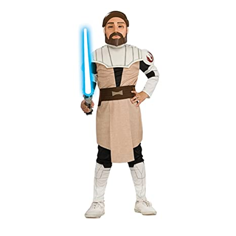 10bc5e3703cc Costume bambino Star Wars Obi Wan Kenobi - L 8 - 10 anni: Amazon.it ...