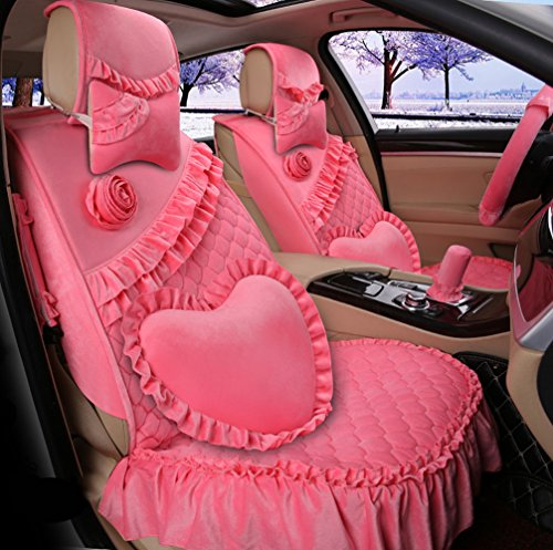 romantic-ruffles-velvet-vehicle-car-seat-covers-and-accessories-set-17pcs-pink