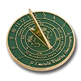 The Metal Foundry 55th Emerald Wedding Anniversary Sundial Gift Idea Is A Great Present For Him, For Her Or For A Couple To Celebrate 55 Years Of Marriage