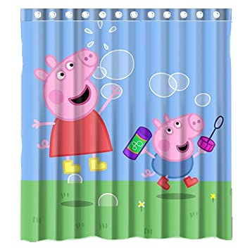 Custom   caja de cartón peppa pig impermeable baño cortina de ...