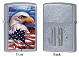Personalized Zippo Claudio Mazzi American Eagle Lighter with Free Monogram
