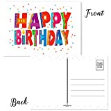 Happy Birthday Postcards - 4 x 6 Birthday Postcards - 50 Fun Birthday Cards