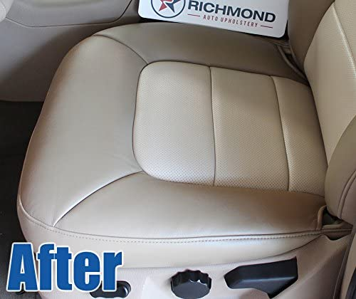2-Tone Tan 2003-2006 Ford Expedition Eddie Bauer Driver Side Bottom Perforated Replacement Leather Seat Cover