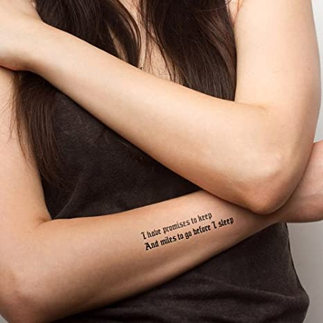 Tattify Poetry Temporary Tattoo Lies Set Of 2 Other Styles