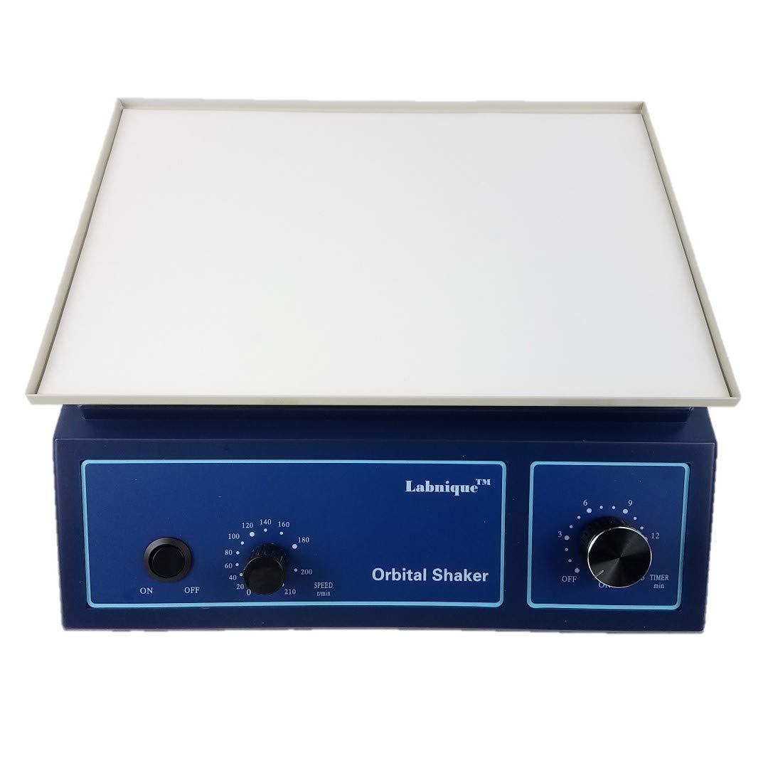 Orbital Shaker, Oscillator with Anti-Slip Pad, Adjustable Speed at 0-210rpm, 110V by Labnique