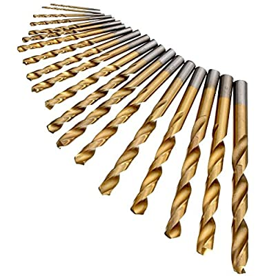 18pcs High Speed Steel Drill Bits round Shank 1.5mm-10mm HSS Twist Drill