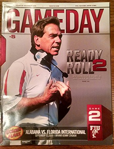 09/12/09 Official Alabama Crimson Tide Game Day Program v FIU