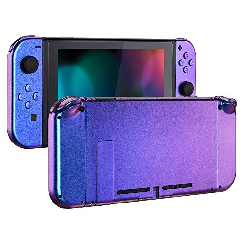 Minute To Win It Halloween (eXtremeRate Chamillionaire Glossy Back Plate for Nintendo Switch Console, NS Joycon Handheld Controller Housing with Full Set Buttons, DIY Replacement Shell for Nintendo Switch - Chameleon Purple)