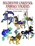 Decorative Carousel Animals Stickers, Christy Shaffer, 0486410684