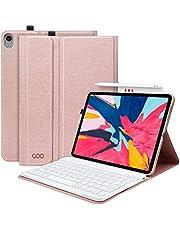 """COO Funda con Teclado iPad Pro 11, Funda iPad 11"""" con Pencil Holder y Teclado Español Bluetooth Desmontable para iPad Pro 11 Inch 2018-Cubierta Magnética Delgada-Múltiples Ángulos de Visión"""