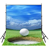 LYLYCTY Blue Sky Photo Background 5x7ft Golf Course Photography Backdrop Club Studio Props Wall PB816