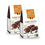 Belvas Belgian Flaked Truffles - Dark Chocolate w/Cane Sugar 3.5 oz (2 Boxes)