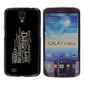 TopCaseStore / la caja del caucho duro de la cubierta de protección de la piel - Deep Message - Samsung Galaxy Mega 6.3 I9200 SGH-i527