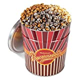 Popcornopolis?3.5 Gallon Gourmet Popcorn Party Tin: Caramel, Kettle, and Zebra?- COS by Popcornopolis