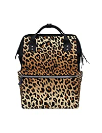 73a171c69b imobaby Cool Leopard Pattern Changing Bags Large Capacity Handbags Canvas  Shoulder Bag Backpack