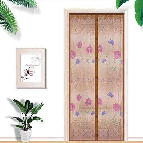 蚊帳 カーテン自動マグネットフライ昆虫スクリーンドア、ドア用蚊帳、強力なマグネットフィット、超微細で侵入不可能なメッシュ、蚊の侵入を防ぐ蚊のドア,ブルー,90*200cm,Brown,70*200cm