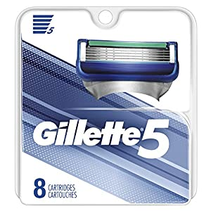 Gillette 5 Men's Razor Blade Refills, 8Count