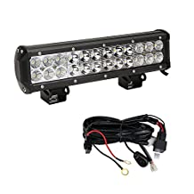 "LED Light Bar, Northpole Light 12"" 72W Cree Spot Flood Combo LED Off Road Light Bar with Wiring Harness, Driving Fog Lights IP67 Waterproof with Mounting Bracket for Off Road, Truck, Car, ATV, SUV, Jeep"