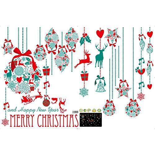 (Mini Christmas Wall Stickers - Stickers Window Glass Waterproof Wall Stickers Holiday Decoration Snowman Sticker)