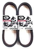 Polaris RZR Turbo Belt 2016 Gates CVT Carbon Cord Drive Belt 47C4266 - 2 Pack