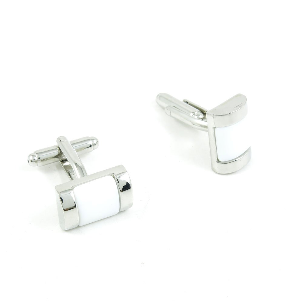 50 Pairs Cufflinks Cuff Links Fashion Mens Boys Jewelry Wedding Party Favors Gift TTO099 White Stone