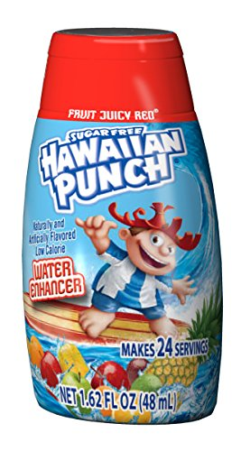 Hawaiian Punch Liquid Water Enhancers - Sugar Free Fruit Juicy Red Water Flavoring with No Calories (12 Bottles that make 24 Servings Each - 288 Total Servings)]()