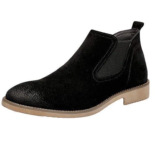 Botines De Gamuza De Ante De Los Hombres Botas De Bota De Goma Elástica Botas Cortas De Moda Botas De Seguridad De Trabajo Escuela: Amazon.es: Zapatos y ...