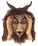Scary Peeper Krampus Christmas/Halloween Xmas Prop with Animated Eyes - Spooky Holiday Decoration - Motion Activated Demon that Peers in Your Window with Glowing Red LED Eyes that Move
