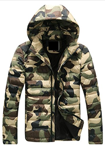 Mens Outwear 3 L Puffer Quilted Winter Hooded Generic Down Coat Jacket Camo dvPctgPxq