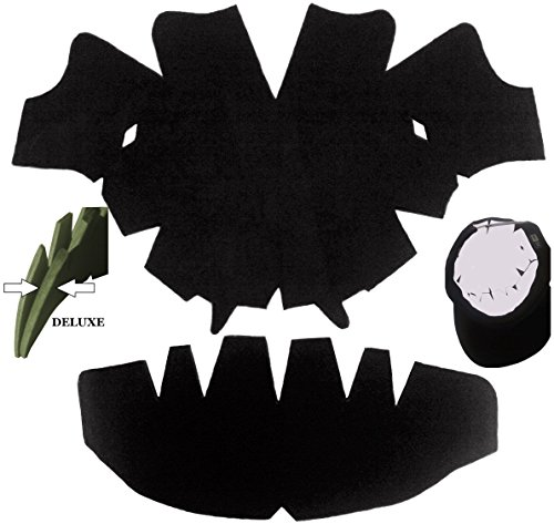 (For Large Caps: Black DELUXE Baseball Cap Dome Panel Shaper and Hat Crown Inserts Combo-Flexible-Long Lasting Caps Liner-Hat Shaper 100% MBG.)