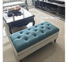 Amazon.com: YCSD Rectangular Folding Upholstered Tufted ...