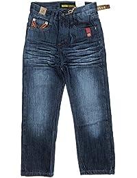 Boy's Straight Fit Mercerized Baked Denim Jeans Size: