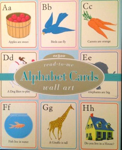 eeBoo Alphabet Cards Wall Art (Eeboo Wall Cards)
