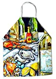 Caroline's Treasures MW1257APRON Sit A Spell Seafood Crab Boil Apron, Large, Multicolor