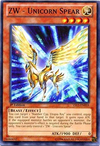 Amazon.com: Yu-Gi-Oh! - ZW - Unicorn Spear (YS13-EN018 ...