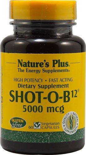 Nature's Plus Shot-O-B12® -- 5000 mcg - 60 Vegetarian Capsules - 2PC by Nature's Plus